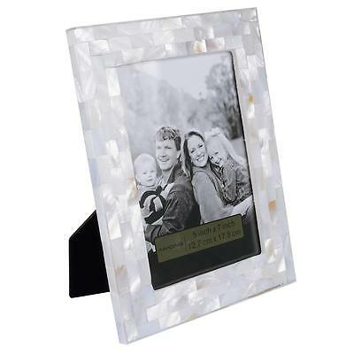 AIMONE Picture Frame Natural Mother of Pearl White Table Top Photo Frame
