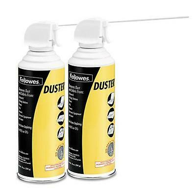 Fellowes 9963201 Air Duster, 152A Liquefied Gas, 10oz Can, Two Per Pack