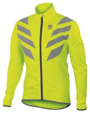 Brand new Sportful Reflex cycling jacket. High visible hi-viz for winter!