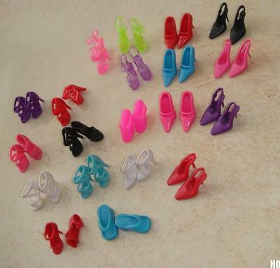 HOAU 20Pair Or 40Pair Different Toy High Heel Shoes For Barbie Doll Accessories