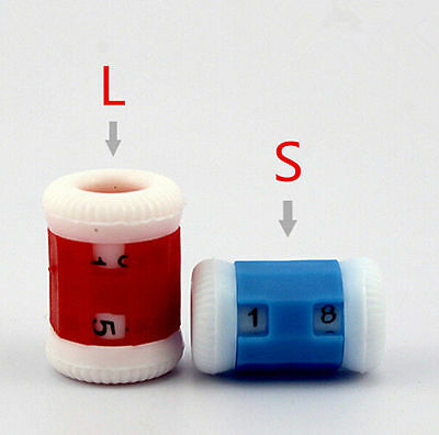 2pcs Plastic Crochet HA Knitting Row Counter Stitch Tally OU Knitter Needle