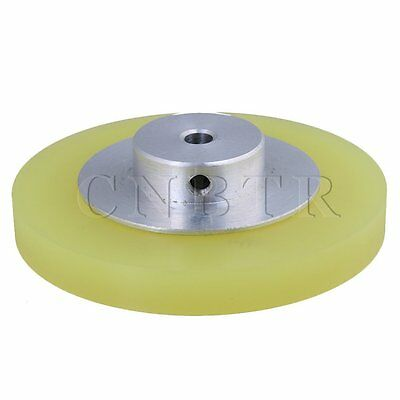 25x0.6cm Aluminum Silicone Encoder Wheel for Measuring Yellow Silver