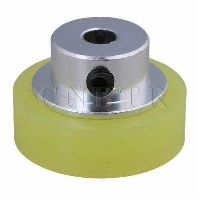 10x0.6mm Aluminum Silicone Encoder Wheel for Measuring Yellow Silver