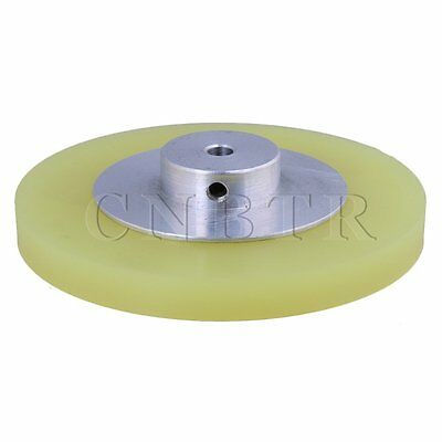 30x0.6cm Aluminum Silicone Encoder Wheel for Measuring Yellow Silver