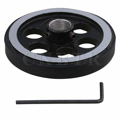20x1.2cm Aluminum Rubber Rotary Encoder Wheel for Measuring Black Silver