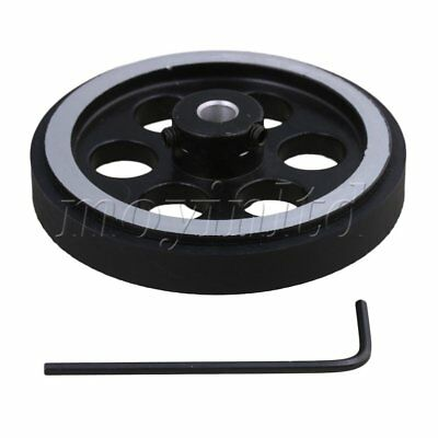 20x0.6cm Aluminum Rubber Rotary Encoder Wheel for Measuring Black Silver