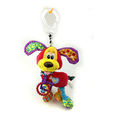 Baby Infant Animal Music  Bell Soft Rattles Bed Toy Dog 1 PC Crib Stroller