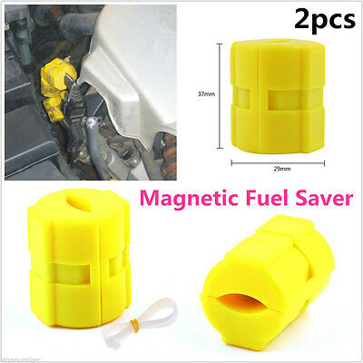 2 Pcs Magnetic Fuel Saver for Vehicle Gas Universal Reduce  Emission  Useful