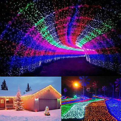 50/100M 250/500 LED String Fairy Lights Christmas Xmas Wedding Party Yard Garden