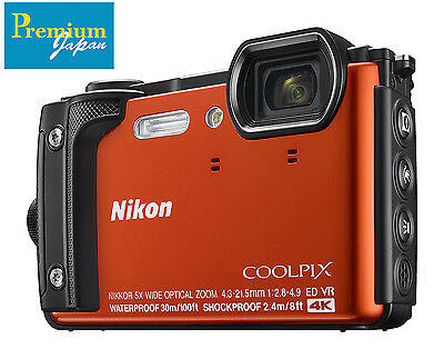 Nikon CoolPix W300 Compact Camera Waterproof 16MP 4K Japan Domestic Version New