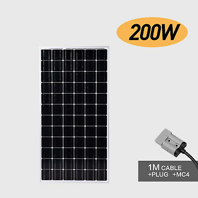 200W 12V Portable Solar Panel Power Battery Charger Mono Camping Caravan Boat RV