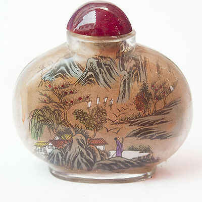 The new China hand-painted painting figure and scenery snuff bottle