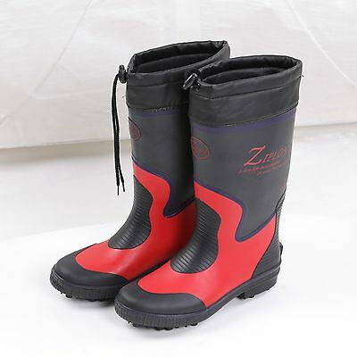 Red Fishing Boots Shoes Anti-Skid Soles Nails Spikes Waterproof