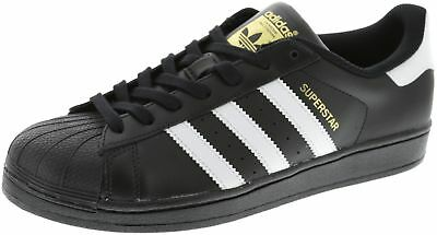 New Men's Adidas Superstar Foundation Shoe Black/white Footwear Sneakers Shoes R