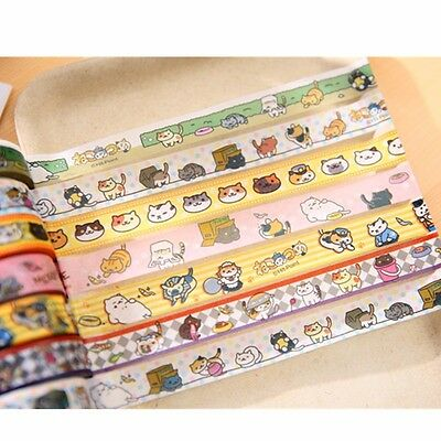Neko Atsume Cute Cat Animal DIY Washi Masking Tape Decorative Stricker Band 1pc