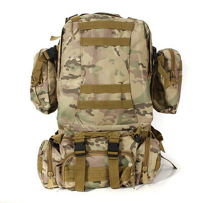 65L Molle Assault Army Military Tactical Outdoor Rucksacks Backpack Camping Bag