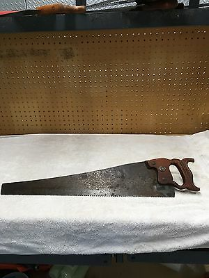 "Vintage Warrented Superior Hand Saw  24"" 7TPI  NICE BLADE  AND WOOD HANDLE"