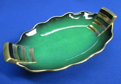 Elegant Carlton Ware Vert Royal & Heavy Gold Handled Serving Dish