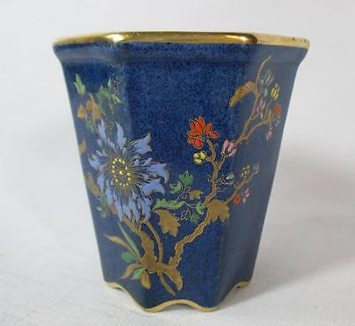 Earlier Carlton Ware Bleu Royale Chinoiserie Flower & Butterfly Vase