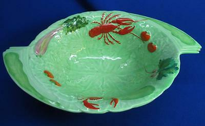 Rare Carlton Ware Art Deco Pedestal Bowl Decorated With Lobsters & Vegetables
