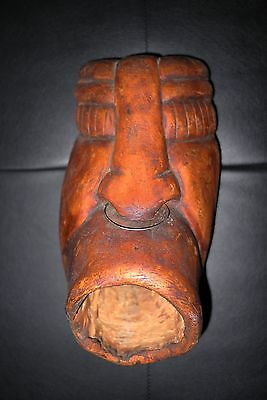 18th C. 11 inch Delaware or Iroquois blind blower mask