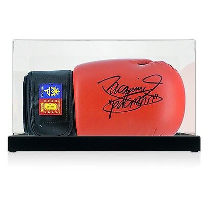 Red Boxing Glove Signed By Manny Pacquiao In Display Case Autograph Memorabilia