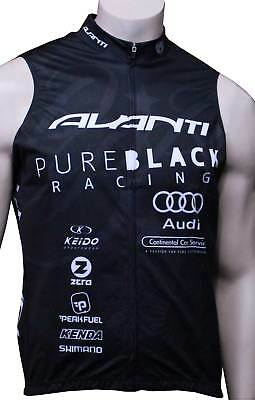 Volta Pure Black Racing Team Bike Vest Black/White