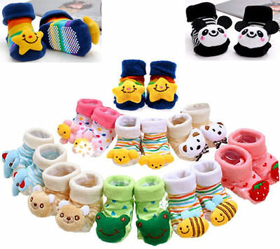Cute Baby Girl Newborn Unisex Anti-slip Warm Socks Animal Shoes Boots 0-6 Month-