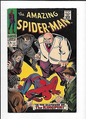 The Amazing Spider-Man #51 ==> Fn+ 2Nd Appearance Of Kingpin Marvel Comic 1965