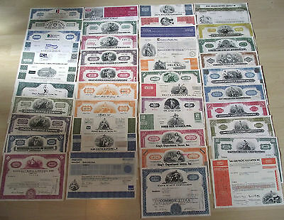 50 DIF RARE OLD US STOCKS 59c! AVIATION AUTO BIG OIL PHARMA RAILROAD TELCOM MORE