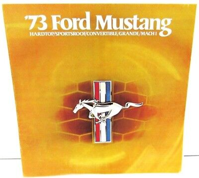 1973 Ford Mustang Dealer Sales Brochure Mach 1 Grande Convert Revised Original