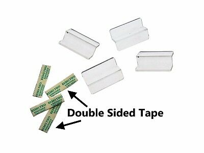 Z-Bar Slatwall Attachments with Double-sided Tape (Lot of 24)