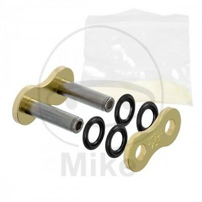 JT Hollow Rivet Soft Link For Motorcycle Chain Gold & Black GB525X1R