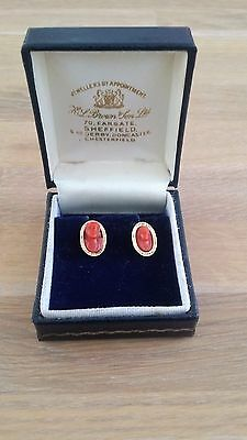 Victorian Great Antique  Red/salmon Coral Erings.