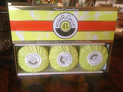 Bargain! Fleur d'Osmanthus Soap by Roger & Gallet 3 x 100 gr