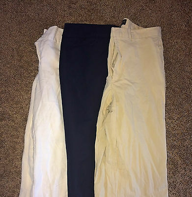 LOT E 3 Pairs Women's Designer Career Dress Pants Slacks Trousers 8 MEDIUM M GUC