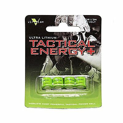 New Viridian CR1/3N 3V Ultimate Lithium Battery 4 Pack Batteries Tactical