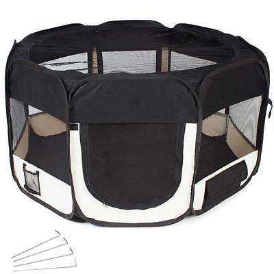 Tenda Box Per Cagnolini Cuccioli Recinto Cuccia Per Piccoli Animali Pop-Up Nero