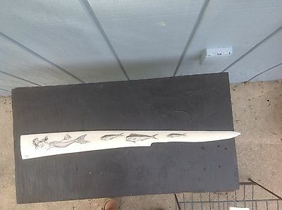 scrimshaw swordfish bill