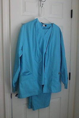 3 Piece Lot! Jacket, Top & Pants Medium Cherokee Women's Scrubs TRQW Turquoise