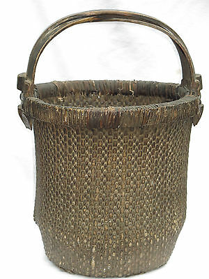 """23"""" tall,  3 Handle Large Asian Woven Basket"""