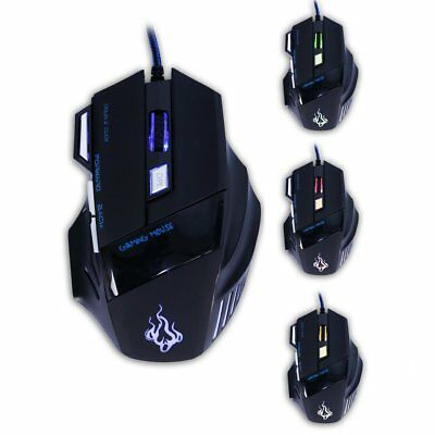 Professional USB Wired Gaming Mouse 7 Buttons Computer Mice For Game Player BM