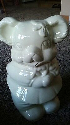 VINTAGE Mouse /Bear ? Rare Double Headed Cookie Jar