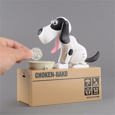 Coin Money Saving Box Bank Penny Box Jar Collection Automatic Stealing Money Dog