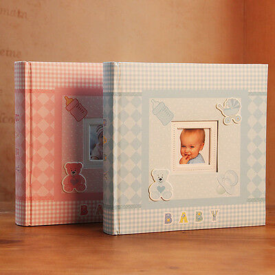 200 Pockets Slip In Jumbo Baby Photo Album 6 Inches Photos-2 Colors