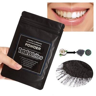 Coco Shell Organic Black Charcoal Toothpaste Powder Teeth Whitening,Total White