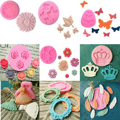 80 Silicone Fondant Mold Cake Decorating Chocolate Baking Sugarcraft Moulds Tool