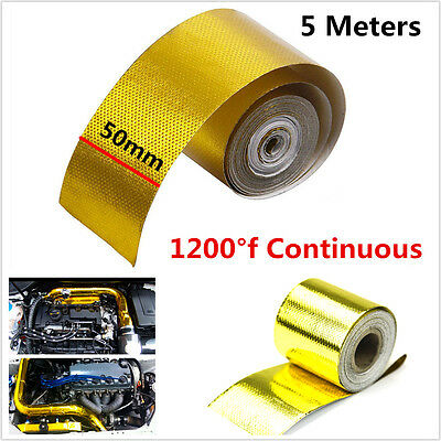"Gold 2""x200"" 1200°f Continuous Reflective High Temperature Heat Shield Wrap Tape"
