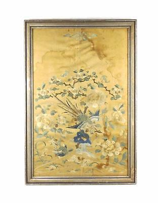 Chinese 19thC Qing Dynasty Framed Silk Panel Suzhou