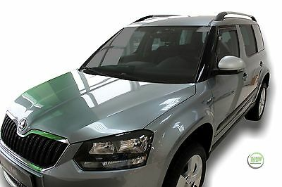 SKODA YETI 2009 -2015  SET OF FRONT WIND DEFLECTORS HEKO TINTED 2pc